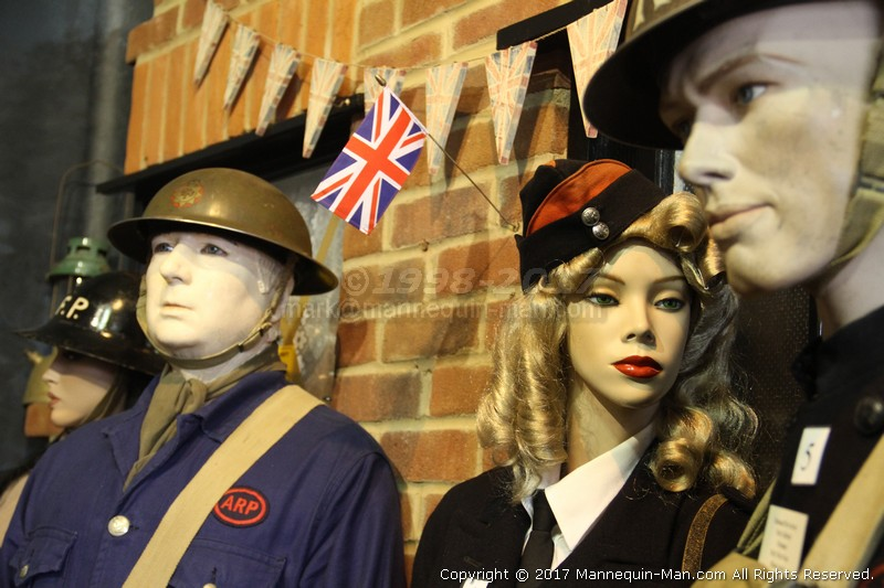Where fire history comes to life, literally! - Air Raid Precautions ARP Warden WW2 Exhibit Essex Fire Museum
