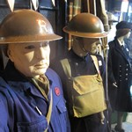 mannequin-man performming as a Museum Dummy: Mannequin man reprising the role of the ARP warden at the Essex Fire Museum to the amusement of the parents and youngsters for Essex Fire Museum on 01/06/2016