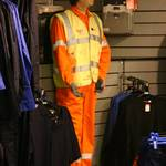 mannequin-man performming as a Living Mannequin: mannequin man as a shop safety dummy at Arco Watford Event Day 2008 for Arco on 12/06/2008