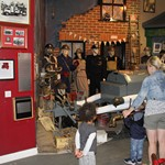 mannequin-man performming as a Museum Dummy: Taking the place of a mannequin wearing an ARP uniform from the second war during a Family Fun Day at the Essex Fire museum to the amusement of the visiting children for Essex Fire Museum on 13/08/2015
