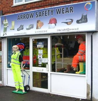 When I came across the a picture of the dummy in the arrow safety wear shop I new that I wanted to take his place
