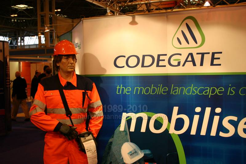 On Codegate Stand at Services Management Exhibition 2005 at NEC Birmingham - Living Mannequin Services Management Expo NEC