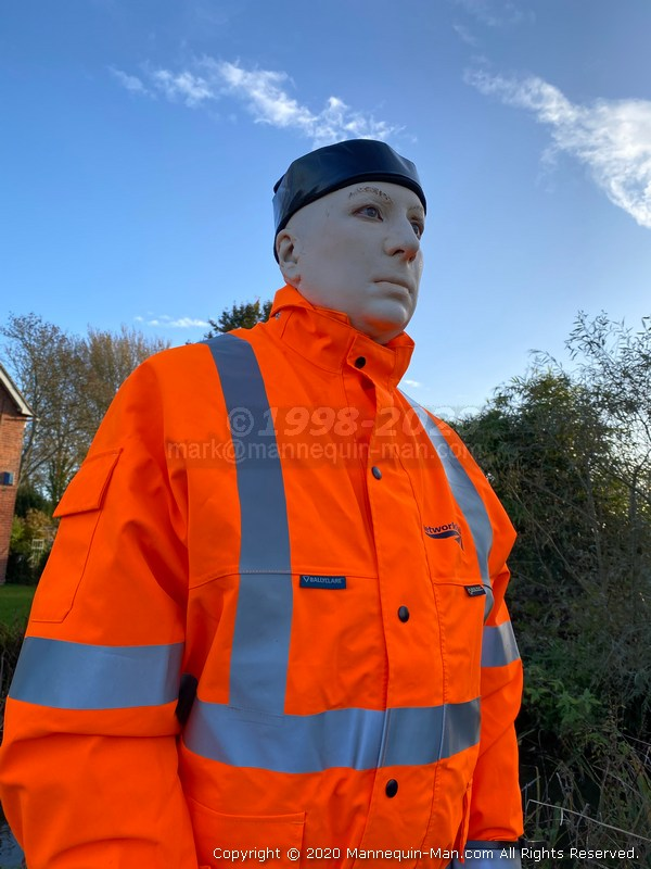 - Substituted for an Angling Trust mannequin that's pretending to be a human that's helping to humanely keep the cormorants away from angling fish stocks on the Hampshire Avon.