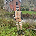 mannequin-man performming as a Living Mannequin:  for Angling Trust on 26/10/2020