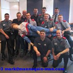 living CPR Dummy with training firemen at Brigade Training Centre, Smethwick