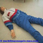 danny-cpr (living mannequin) during basic life support course at WMFS