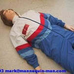 danny cpr being used as a cpr training resucitation manakin in basic life support course