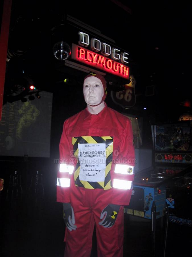 Living Crash Test Dummy at Road House restaurant in London - Crash Test Dummy Road House Mannequn Covent Garden, London