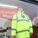 Reprising the role of the Dickie Mackay mannequin for an open day at Mackays of Cambridge.