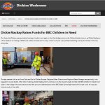 Dickies workwear website has article on performance for Children in Need