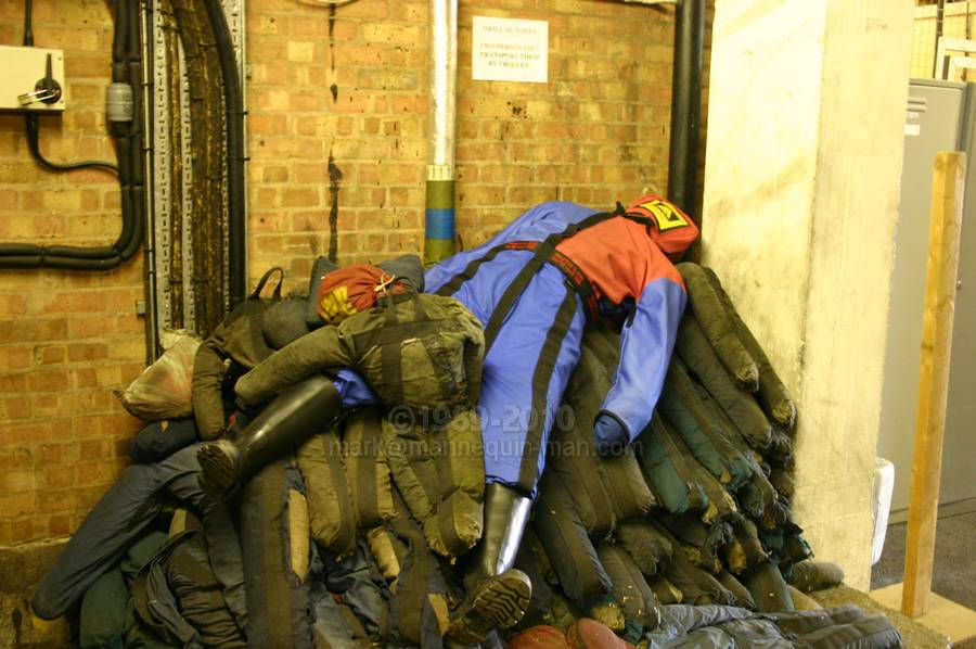 drag dummy storage - drag dummy Brigade Training Centre West Midlands Fire Service BTC, Smethwick