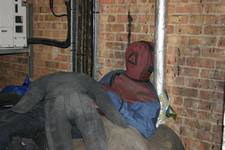 mannequin-man performming as a drag dummy: A pile of Fire Drill Training Drag dummy at West Midlands Fire Service (WMFS) Brigade Training Centre (BTC) for West Mids Fire Service on 10/01/2007