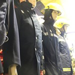mannequin-man performming as a Museum Dummy: Museum Mannequin comes alive and gives visitors a shocking scare during Halloween tour prank for Essex Fire Museum on 30/10/2015