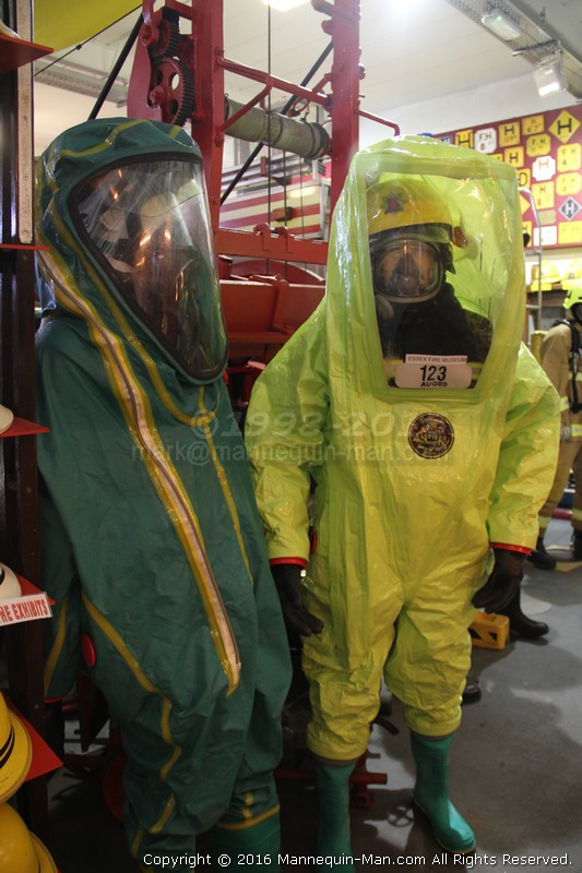 New Mannequin Fire-Fighter Clothing Exhibits At The Essex