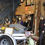 mannequin-man performming as a Museum Dummy: Mannequin man as the world war two ARP Warden exhibit for Essex Fire Museum on 08/09/2018