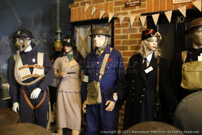 Where fire history comes to life, literally! - Essex Fire Museum's WWII Fire Wardens uniforms exhibit