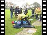 mannequin-man drag dummy: Training exercise removing dummy casualty from smoke filled building using breathing apparatus, trainees were unaware that the dummy was real #3 at Event Fire & Rescue Fire Training Drag Dummy for Event Fire & Rescue on 20/11/2004