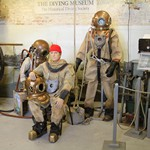 Hard Hat Diving Suit exhibit at the Diving Museum Gosport