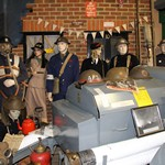 mannequin-man performming as a Museum Dummy: WWII fire uniform exhibit at the Essex Fire Museum for Essex Fire Museum on 03/04/2018