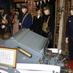 World War Two Fire Wardens' uniform exhibit at the Essex Fire Museum