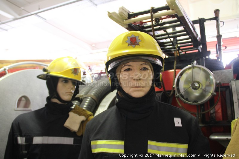 The Essex Fire Museum, Where fire history comes alive, literally! - Firefigher Wearing Cromwell F600 Helmet Uniform Essex Fire Museum
