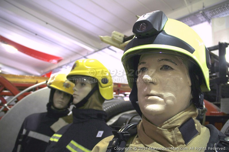 The Essex Fire Museum, Where fire history comes alive, literally! - Firefigher Wearing Rosenbauer Heroics Helmet Cosalt PB1 Gold Uniform Essex Fire Museum
