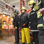Firefighter Uniform Exhibit at the Essex Fire Museum