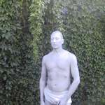 mannequin-man performming as a Human Statue: Human Statue at wedding for Wedding on 24/08/2002