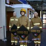 Living Mannequin with two real mannequin on Foyer of Fire 2004 NEC