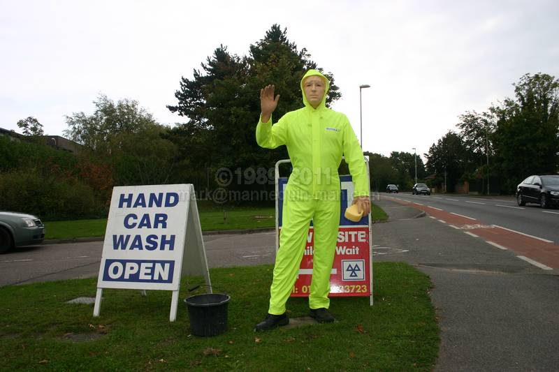 Waving car wash mannequin - Gosport