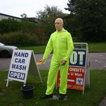 Waving car wash mannequin - Gosport Part #2