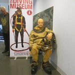 mannequin-man performming as a Museum Dummy: Spent the day at the Mary Rose Museum for the FESTIVAL OF ARCHAEOLOGY with the Dive Museum Gosport for The Mary Rose Museum/Diving Museum on 23/07/2017