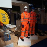 mannequin-man performming as a Living and Real Mannequin: Living mannequin on the PHSGroup stand S51 at Railtec 2015 for PHSGroup on 12/05/2015