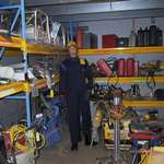 mannequin-man performming as a Living Mannequin:  for HSS on 21/12/2001