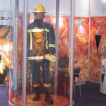 Mannequin man on the Lincoln Stand dressed in fire turnout gear