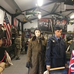 mannequin-man performming as a Museum Dummy: Mannequin man at the We'll Meet Again Homefront Museum surprising the visitors for We'll Meet Again Homefront Museum on 29/06/2019