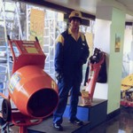 Mannequin man performing as a living Mannequin at HSS Hire Shop Purley