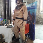 mannequin-man performming as a Museum Dummy: Celebration of Hampshire Treasures in conjunction with National Heritage and the Gosport Diving Museum  for Diving Museum/National Heritage on 15/09/2019