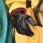 mannequin-man performming as a Museum Dummy: Mannequins dressed to demonstrate hazard chemical and biological protection clothing used by the fire service for Essex Fire Museum on 17/04/2019