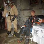 mannequin-man performming as a Museum Dummy: Museum Showcase event in the great hall Winchester for The Diving Museum on 20/10/2016