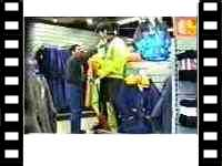 mannequin-man Living Mannequin: Joke being play on staff member in shop at Open day at Arco shop for Arco on 22/12/1994