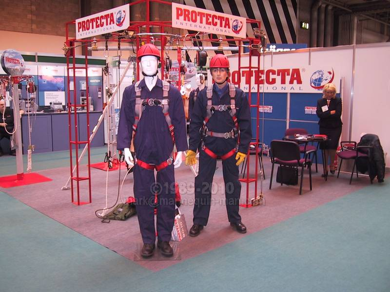Exhibition Stand Health And Safety : Safety health expo protecta international mannequin