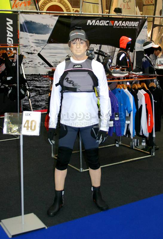 Living Mannequin on the LDC Sailing Parts & Clothing stand at the RYA Dinghy Show Alexandra Palace 2013 - RYA Dinghy Show Mannequin - LDC Sailing Parts And Clothing