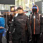 mannequin-man performming as a Living Mannequin: Mannequin man wearing a Magic Marine Regatta Drysuit on the LDC Sailing Parts & Clothing stand at the RYA Dinghy Show Alexandra Palace 2013 for LDC Sailing Parts & Clothing on 02/03/2013