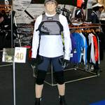 Living Mannequin on the LDC Sailing Parts & Clothing stand at the RYA Dinghy Show Alexandra Palace 2013