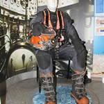 mannequin-man performming as a Museum Dummy: The Dive museum in Gosport played a prank on its visitors over the holiday weekend. They replaced their saturation diving exhibit mannequin with a real person with hilarious results.