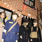 mannequin-man performming as a Museum Dummy: More shocking and spooky goings as the Essex Fire Museum celebrates Halloween with mannequin man the living mannequin taking the pace of one of the museum exhibits providing scares by the dozen for Essex Fire Museum on 23/10/2018