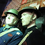 More shocking and spooky goings as the Essex Fire Museum celebrates Halloween with mannequin man the living mannequin taking the pace of one of the museum exhibits providing scares by the dozen
