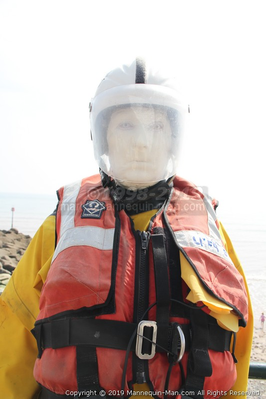 Famous in Sidmouth, Sid the mannequin stands outside in all weathers, with his partner Alma, collecting donations for the Sidmouth lifeboat. Over the Easter weekend, Sid became real and thanked the locals and visitors for their generous donations. 