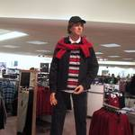 mannequin man posed as a male clothing display dummy